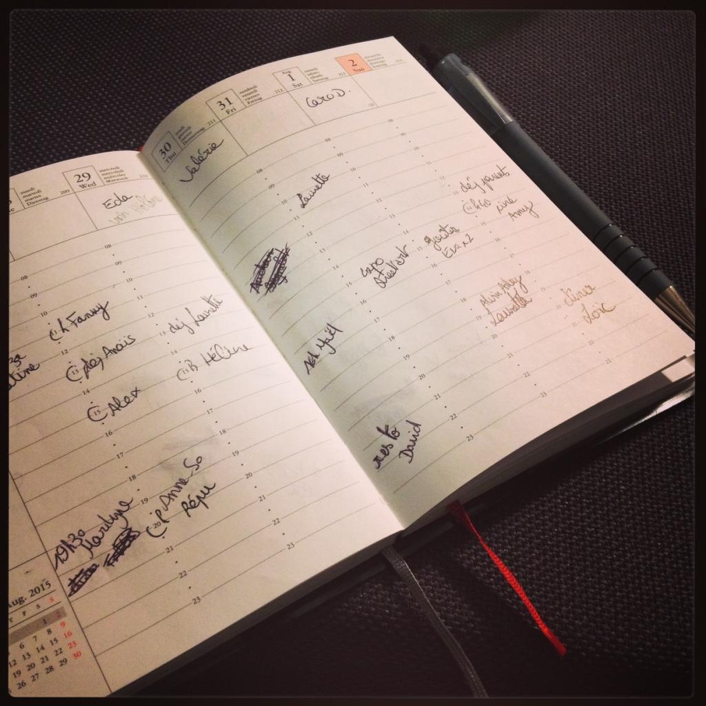 Oui ceci est mon agenda
